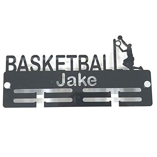 "Super Cool Creation Personalised""Basketballer"" Medal Hanger - Black from Super Cool Creation"