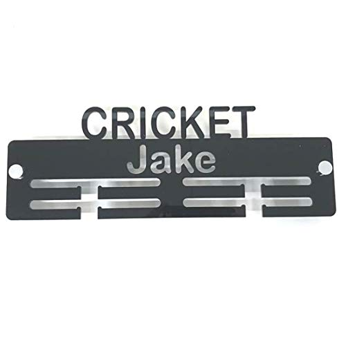 "Super Cool Creation Personalised""Cricket"" Medal Hanger - Bright Green from Super Cool Creation"