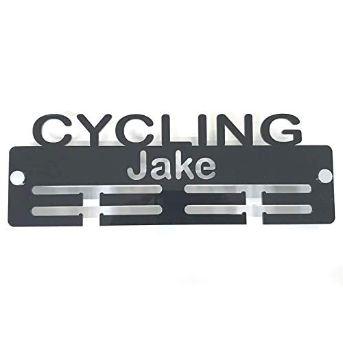 "Super Cool Creation Personalised""Cycling"" Medal Hanger - Light Grey from Super Cool Creation"