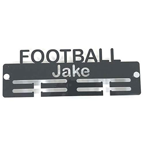 "Super Cool Creation Personalised""Football"" Medal Hanger - Red from Super Cool Creation"