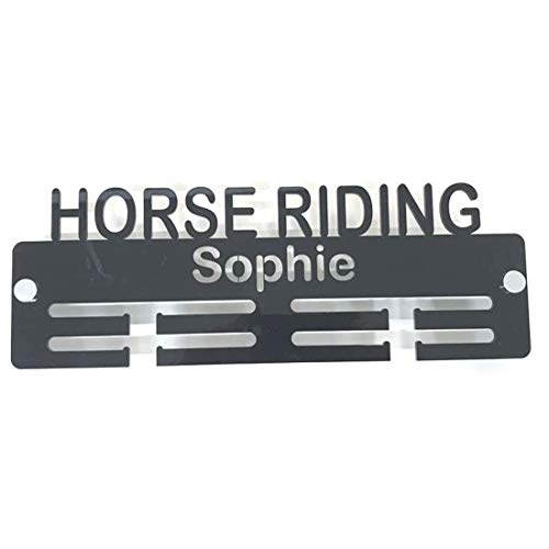 "Super Cool Creation Personalised""Horse Riding"" Medal Hanger - Mocha from Super Cool Creation"