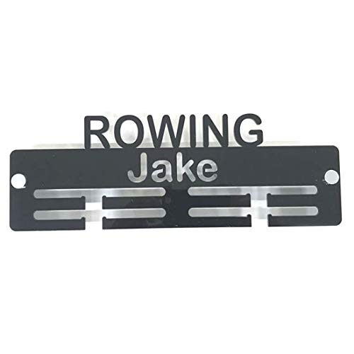 "Super Cool Creation Personalised""Rowing"" Medal Hanger - Bright Blue from Super Cool Creation"