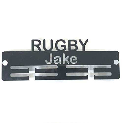 "Super Cool Creation Personalised""Rugby"" Medal Hanger - Lime Green from Super Cool Creation"