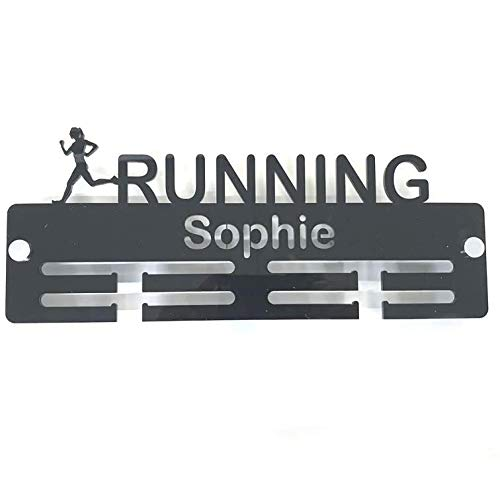 "Super Cool Creation Personalised""Runner"" Medal Hanger - Blue from Super Cool Creation"