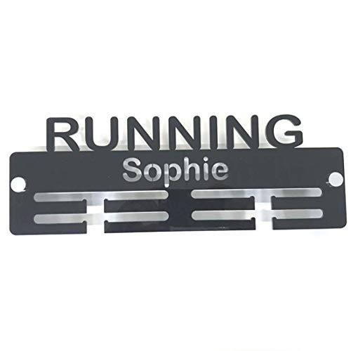 "Super Cool Creation Personalised""Running"" Medal Hanger - Blue from Super Cool Creation"