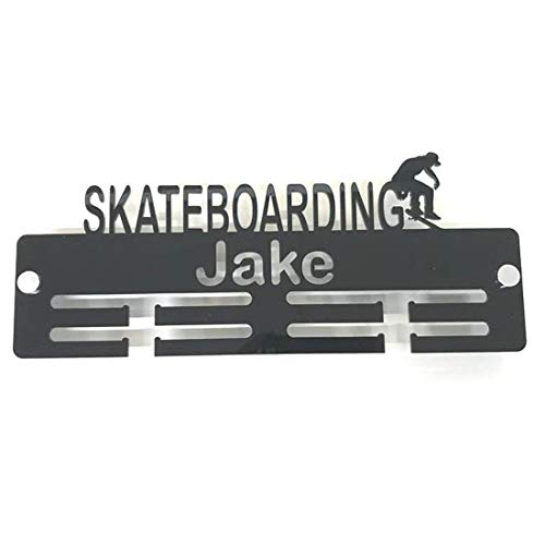 "Super Cool Creation Personalised""Skateboarder"" Medal Hanger - White from Super Cool Creation"