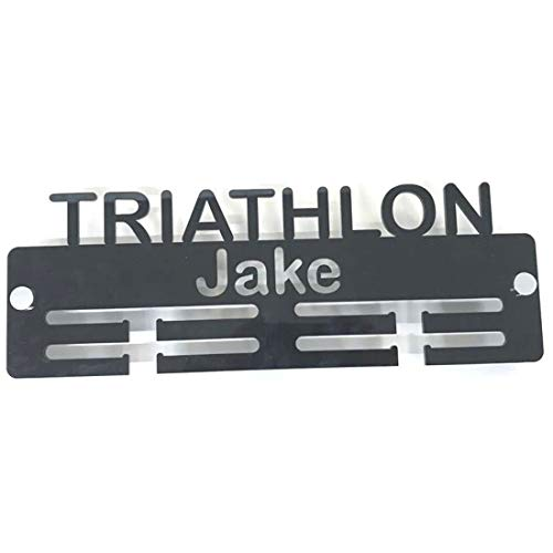"Super Cool Creation Personalised""Triathlon"" Medal Hanger - Orange from Super Cool Creation"