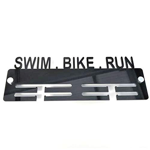 Super Cool Creation Swim, Bike, Run Medal Hanger - Light Grey from Super Cool Creation