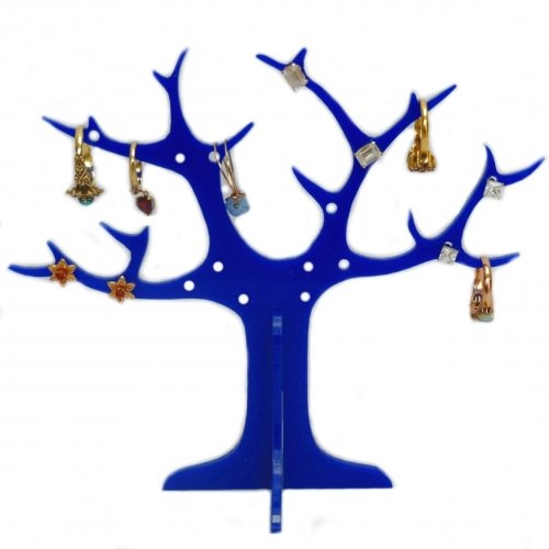 Blue Ring Tree (for earrings and rings) 14cm High and 17cm across from Super Cool Creations