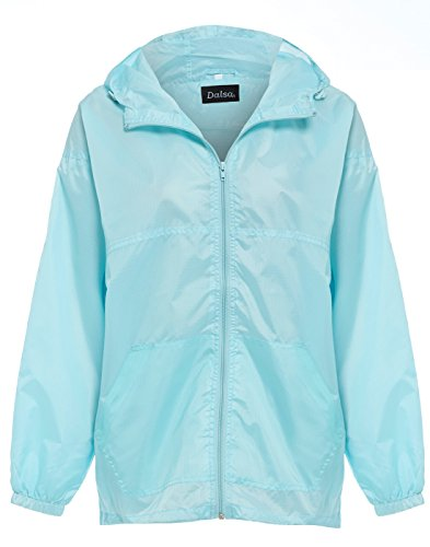 Womens Ladies mesh Lined Hooded Rain Jacket Coat Raincoat Festival Mac Mint Green Size 18 20 (XL, Mint) from Super Save Direct uk
