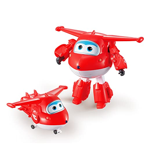 Super Wings - Transforming Vehicle | Series 1 | Jett | Plane | Bot | 5 Inch Figure from Super Wings