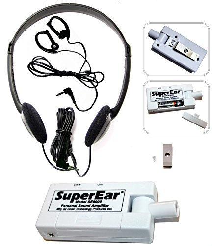 SuperEar Personal Sound Amplifier Model SE5000 (Re-Engineered Upgrade of Discontinued SE4000) Increases Ambient Sound Gain 50dB from SuperEar
