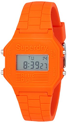 Superdry Mens Digital Quartz Watch with Silicone Strap SYGSYG201O from Superdry