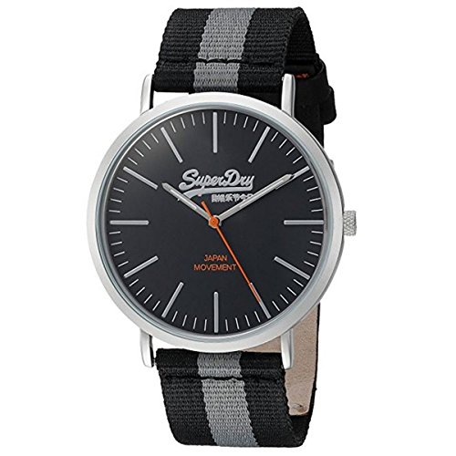 Superdry Men's Analogue Quartz Watch with Nylon Strap SYG183BE from Superdry