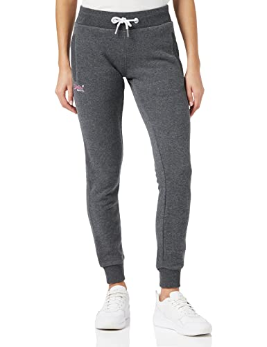 Superdry Women's Label Jogger Tracksuit, Grey (Foggy Charcoal Marl Io9), S (Size:10) from Superdry