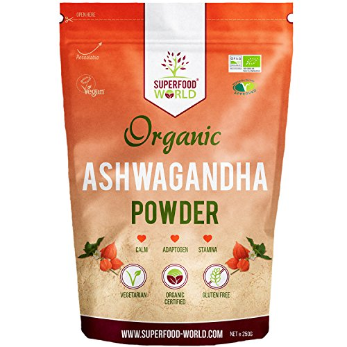 Organic Ashwagandha Root Powder 250 g from Superfood World