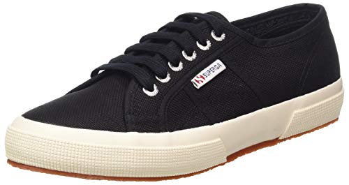 Superga 2750-cotu Classic, Unisex Adult's Fashion Low-Top Trainers, Black (999), 12 UK (47 EU) from Superga