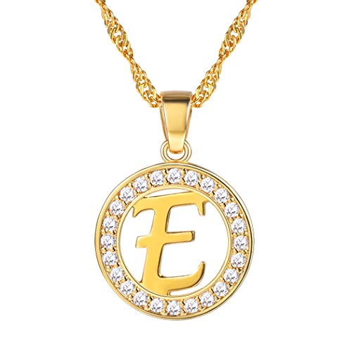 Suplight Letter Necklace e Statement Jewelry Gifts Yellow Gold CZ Alphabet Initial Name Necklaces Personalized from Suplight