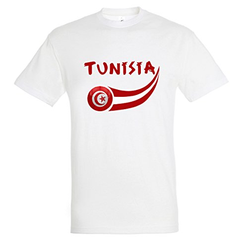 Supportershop Men's Tunisia T-Shirt, White, Medium from Supportershop