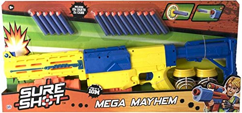Sure Shot Mega Mayhem Soft Foam Dart Gun With Target Cans from Sure Shot Mega Mayhem