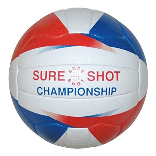 Sure Shot Girls Championship Netball - White/Blue/Red, Size 5 from Sure Shot