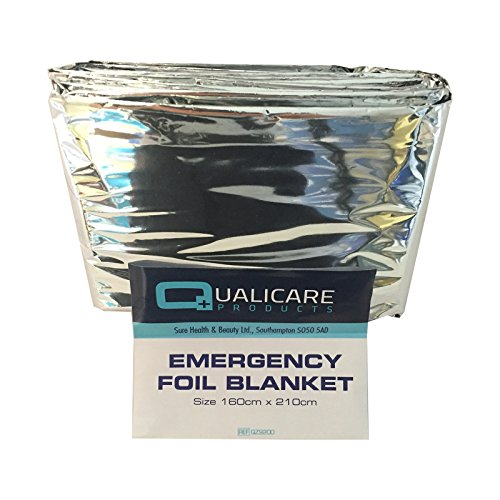 6 PACK OF QUALICARE THERMAL EMERGENCY FOIL SPACE FIRST AID SURVIVAL SILVER FOIL BLANKETS from Sure Thermal