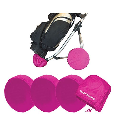 Surprizeshop Women Golf Trolley Wheel Covers - Pink from Surprizeshop