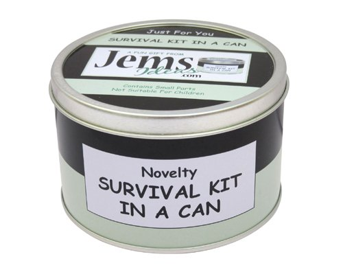 Teacher Survival Kit In A Can. Humorous Novelty Fun Gift - Thank You/Thankyou/Birthday/Christmas/End of Year/Term Present & Card All In One. Customise Your Can Colour. (Black/Mint) from Survival Kit In A Can