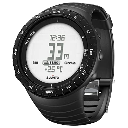 Suunto CORE, Unisex Outdoor Watch for all Altitudes, Waterproof (30 m), Altimeter, Barometer, Weather functions, Composite Case, Regular Black, SS014809000 from Suunto