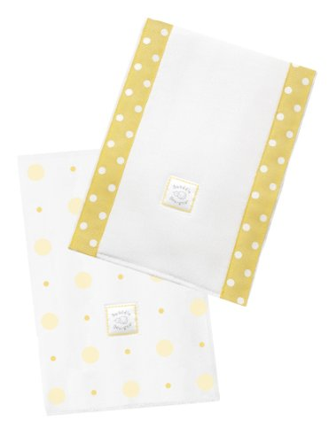 SwaddleDesigns Baby Burpies, Yellow Big Dot Little Dot, Set of 2 Cotton Burp Cloths from Swaddle Designs