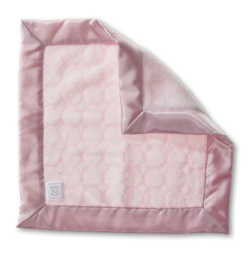 SwaddleDesigns Baby Lovie, Security Blanket, Pastel Pink Puff Circles from Swaddle Designs