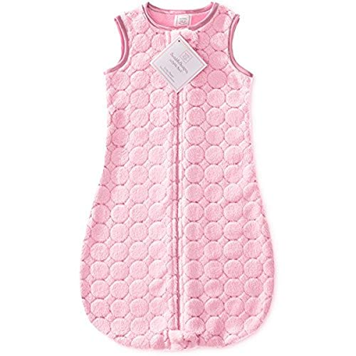 SwaddleDesigns Sleeping Sack with 2-Way Zipper, Cozy Puff Circles, Pink, 3-6MO from Swaddle Designs