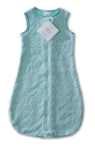 SwaddleDesigns Sleeping Sack with 2-Way Zipper, Cozy Puff Circles, Turquoise, 3-6MO from Swaddle Designs