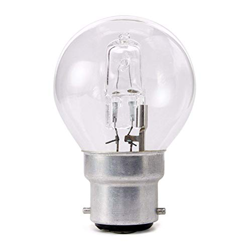 10 x Pack 18w = 25w 240v BC B22 Bayonet Cap Low Energy Quality Eco Halogen Clear Golfball Light Bulbs from Swan Halogen Lamps