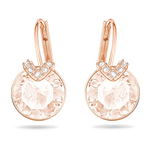 Bella V Pierced Earrings, Pink, Rose-Gold Tone Plated from Swarovski