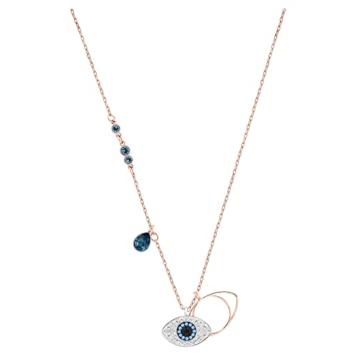 Swarovski Symbolic Evil Eye Pendant, Blue, Mixed metal finish from Swarovski