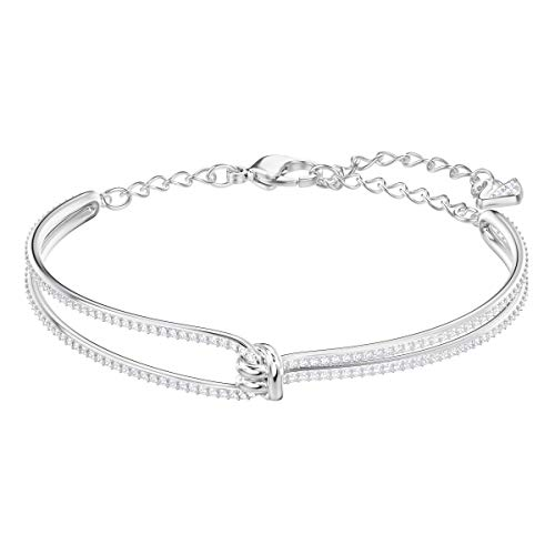 Lifelong Bangle, White, Rhodium Plated from Swarovski