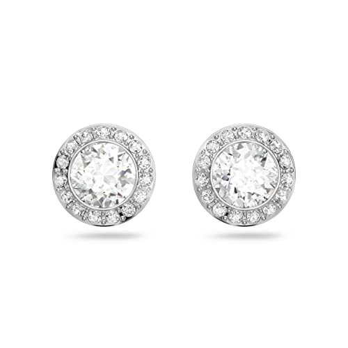 Swarovski Angelic Pierced Earrings, White, Rhodium plating from Swarovski