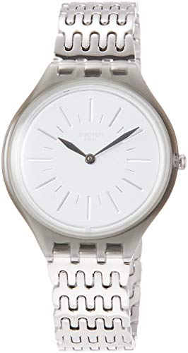 d9afcdbd5f8 Swatch Womens Analogue Quartz Watch with Stainless Steel Strap SVOM104G  from Swatch