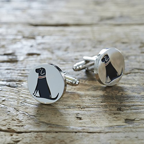 Black Labrador Cufflinks from Sweet William