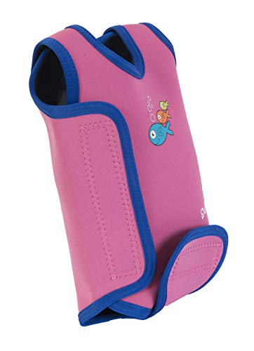 SwimBest Baby Wetsuit Pink/Navy 12-24 months Best for swimming pools & beach, keeps baby warm in water from SwimBest