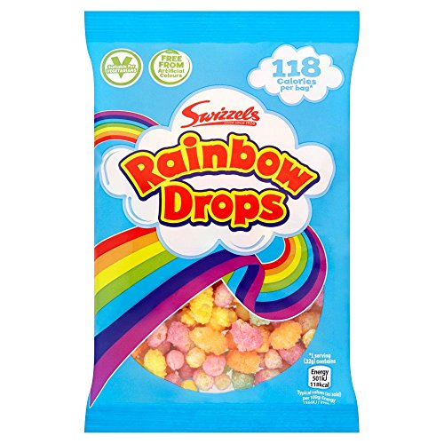 (24 Pack) Rainbow Drops Bag - 28p from Swizzels