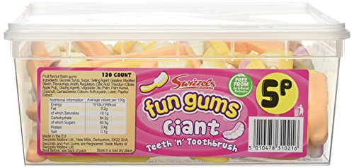 Swizzels Fun Gums Giant Teeth n Toothbrush 120 Count from Swizzels
