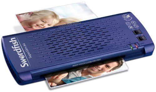 Swordfish Super Slim A4 Paper/Document Laminator with 4 Rollers - Blue Ref: 40187 from Swordfish