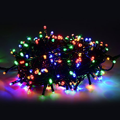 Annefly String Lights, 30M 200LED Waterproof Fairy String Lights Long LED Outdoor Garden Lights Christmas Lights Lighting 8 Operation Modes for Patio Party Wedding Yard Trees Home - Multicolour from Annefly