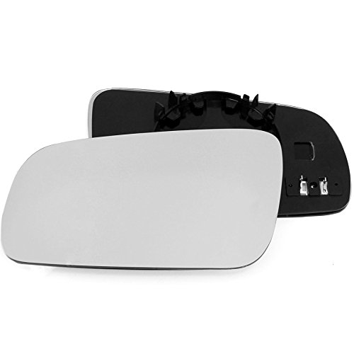 Clip On Passenger left hand side Heated wing door Silver mirror glass with backing plate #C-SHY//L-LRDY09