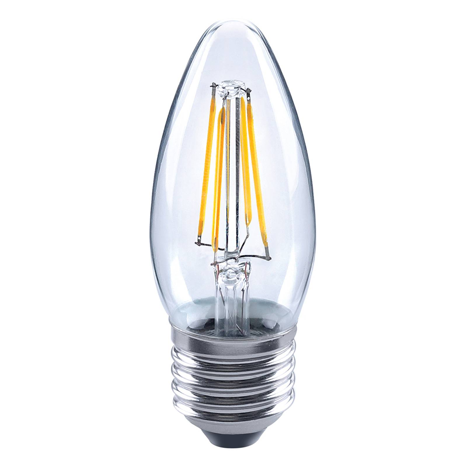 E27 4 W 827 LED candle bulb, clear from Stylvania