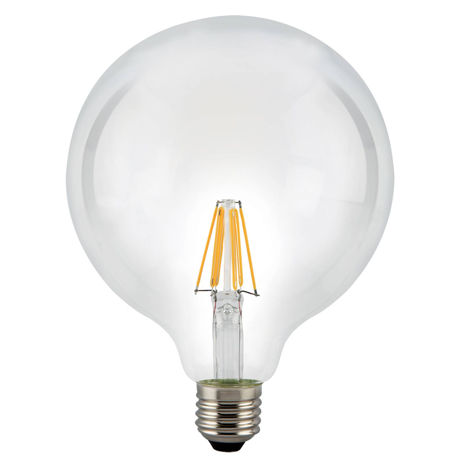 E27 7.5 W 827 LED globe bulb, clear from Stylvania
