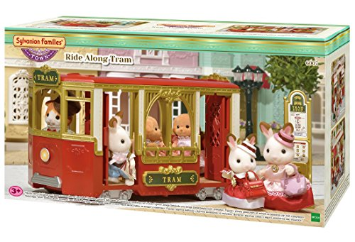 Sylvanian Families 6007 Town Series Ride Along Tram, Multicolor from Sylvanian Families