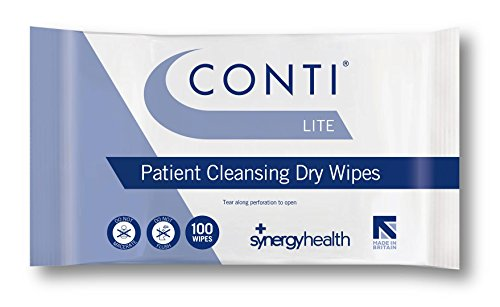 Synergy Health 3 Packs of 100 Conti Lite Economy Dry Patient Cleansing Wipes from Synergy Health